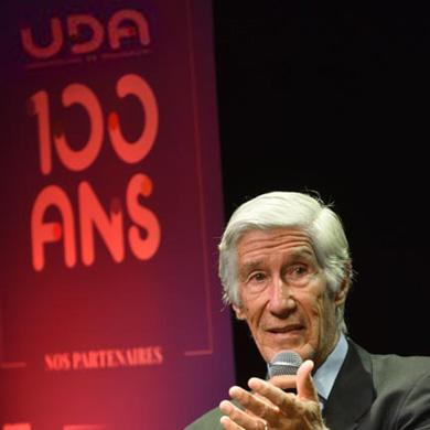 A l'occasion de la soirée des 100 ans de l'UDA, Joël de Rosnay participait  à la table ronde  sur le thème de  « la communication de demain »